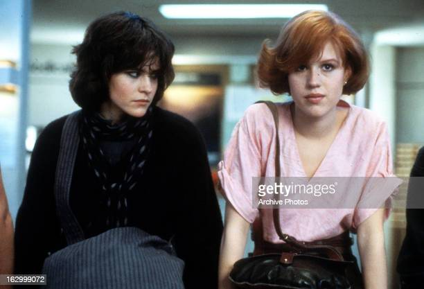Ally Sheedy and Molly Ringwald in a scene from the film 'The Breakfast Club' 1985