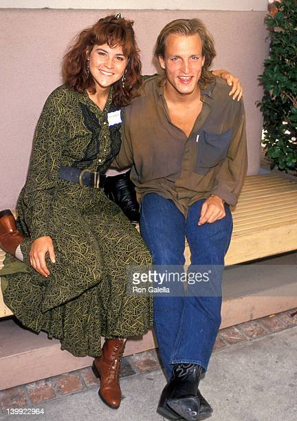 Ally Sheedy and Woody Harrelson at the Global Problems Conference 'Show Coalition' Rally Lorimar Studios Culver City