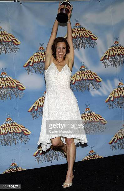 Ally Sheedy during 2005 MTV Movie Awards Press Room at Shrine Auditorium in Los Angeles California United States