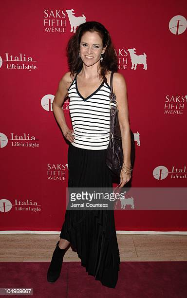 """Ally Sheedy during SAKS Fifth Avenue """"Wild about Cashmere"""" Launch Party - Arrivals at SAKS Fifth Avenue in New York City, New York, United States."""