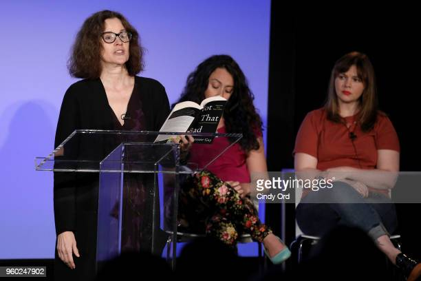 Ally Sheedy Jennine Capo Crucet and Amber Tamblyn speak onstage at Vulture Festival Presented By ATT ROXANE GAY AND AMBER TAMBLYN PRESENT FEMINIST AF...