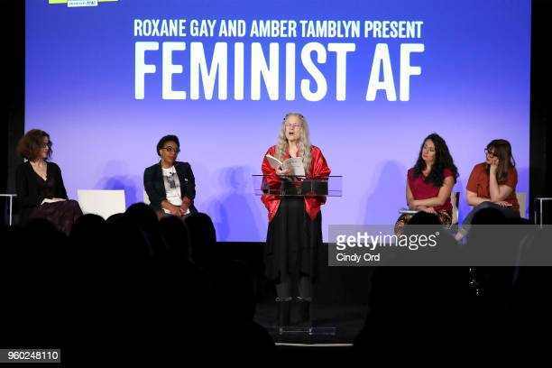 Ally Sheedy Sharon Olds Morgan Parker Amber Tamblyn and Jennine Capo Crucet speak onstage during Vulture Festival presented by ATT ROXANE GAY AND...