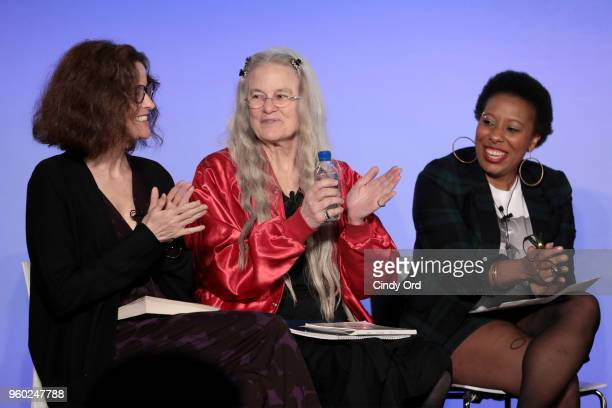 Ally Sheedy Sharon Olds Morgan Parker attend Vulture Festival Presented By ATT ROXANE GAY AND AMBER TAMBLYN PRESENT FEMINIST AF at Milk Studios on...