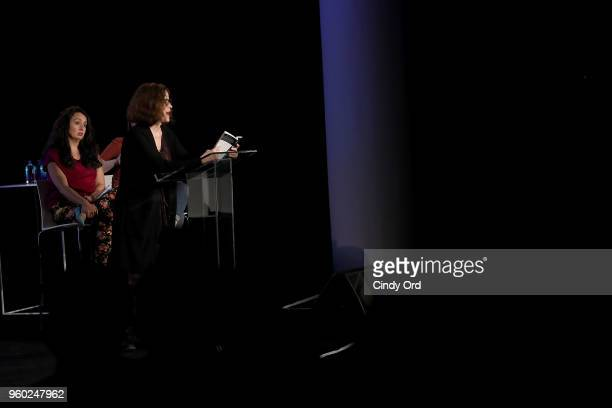 Ally Sheedy speak onstage at Vulture Festival Presented By ATT ROXANE GAY AND AMBER TAMBLYN PRESENT FEMINIST AF at Milk Studios on May 19 2018 in New...