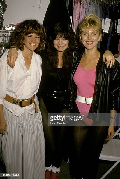 Ally Sheedy Valerie Bertinelli and instructor during Opening of The Valerie Bertinelli Exercise Salon at Valerie Bertinelli Exercise Salon in Los...