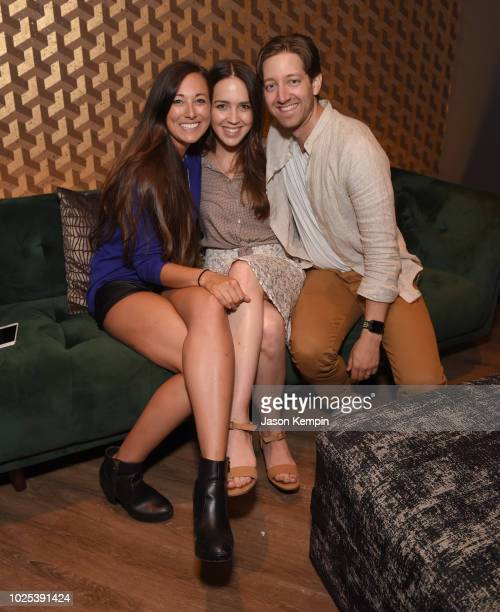 Ally Venable Cassidy Cole and Chris Cole attend the Nashville Filmmakers Guild ReLaunch Party at Analog at Hutton Hotel on August 29 2018 in...