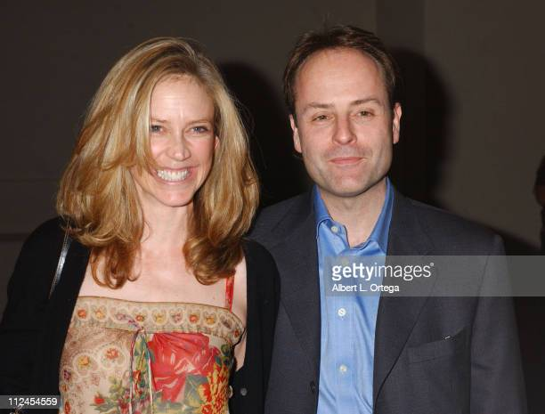 Ally Walker and John Landgraf during 'The Shield' Season Three Premiere Screening at The Zanuck Theater in West Los Angeles California United States