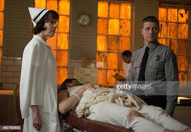 Allyce Beasley and Ben McKenzie in the 'Rogues' Gallery' episode of GOTHAM airing Monday Jan 5 2015 on FOX