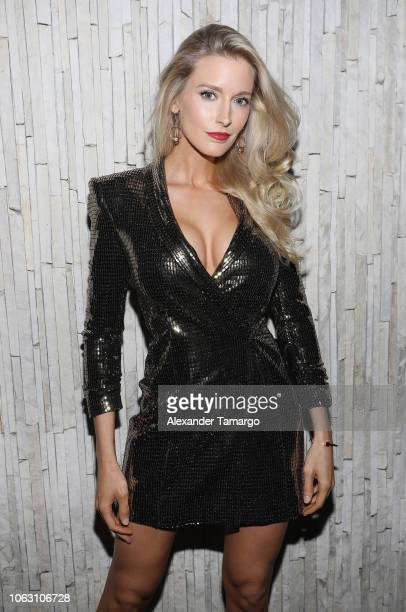 Allyn Rose attends the 1st Annual Celebrity Beach Soccer After Party Presented By GACP Sports Sports Illustrated at W South Beach on November 17 2018...