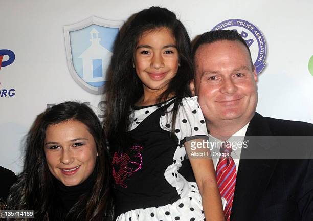 Allysa Ream Angela Martinez and LAPD officer James Ream arrive for The LA School Police Department's Annual Carnival To Benefit The Friends Of Safe...