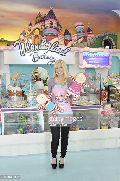 Allyson Ames of Wonderland Bakery visits Wonderland Bakery at The Grove on November 22 2010 in Los Angeles California