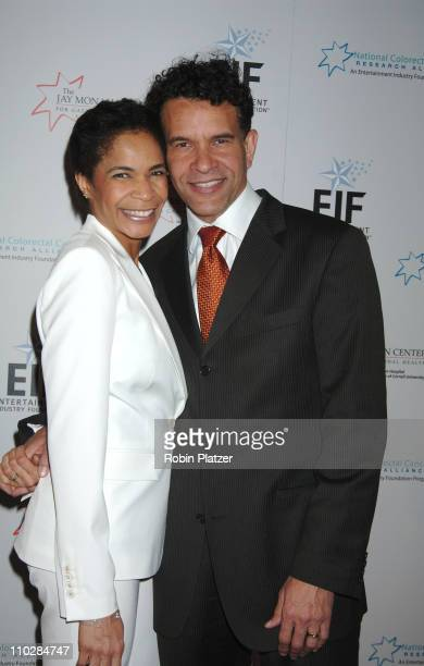 Allyson and Brian Stokes Mitchell during Katie Couric EIF and NCCRA Present Hollywood Meets Motown Benefit Arrivals at The Waldorf Astoria Hotel in...