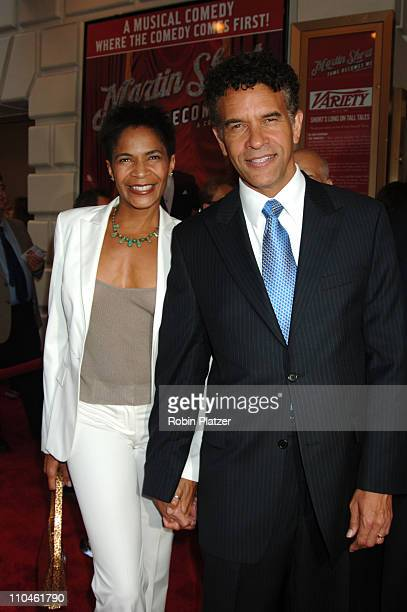 Allyson and Brian Stokes Mitchell during Martin Short Fame Becomes Me Broadway Opening Night Arrivals at Bernard B Jacobs Theatre in New York New...