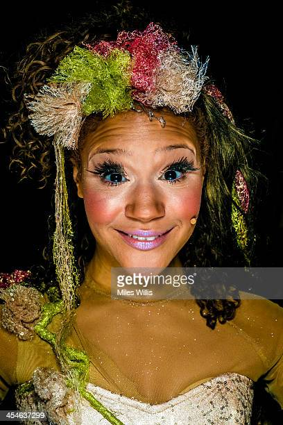 Allyson Ava Brown playing 'Celestine' poses for a portrait during the Puss in Boots pantomime at the Hackney Empire on December 6 2013 in London...