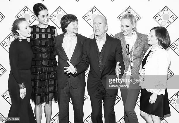 Allyson Crawford Emma Heming Willis Ken Burns Bruce Willis Uma Thurman and Julie Deborah Brown attend the 2016 Room To Grow Spring Benefit at Tribeca...