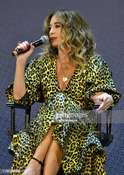 Allyson Fanger speaks onstage at the Netflix FYSEE Craft Day at Raleigh Studios on May 18 2019 in Los Angeles California