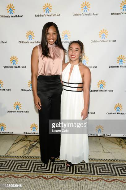 Allyson Felix and Katelyn Ohashi attend the Children's Health Fund Annual Benefit 2019 on June 05, 2019 in New York City.