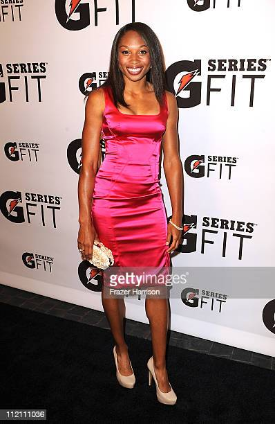 77f64e90baf1 Allyson Felix arrives at Gatorade s  G Series Fit  Launch Party at the SLS  Hotel