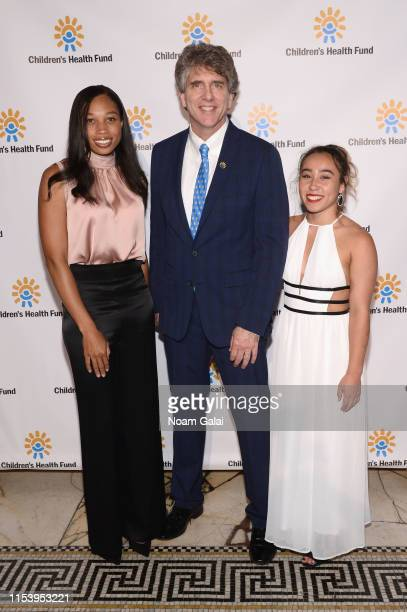 Allyson Felix, Dennis Walto and Katelyn Ohashi attend the Children's Health Fund Annual Benefit 2019 on June 05, 2019 in New York City.