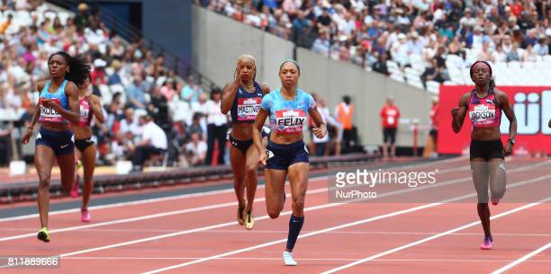 Allyson Felix in the 400m Women during Muller Anniversary Games at London Stadium in London on July 09 2017