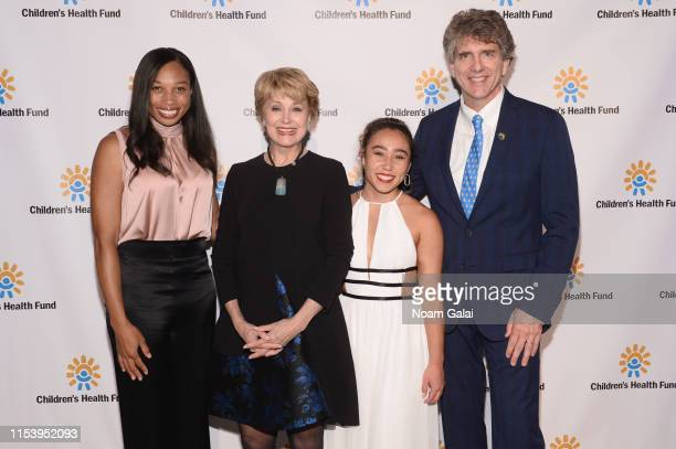 Allyson Felix, Jane Pauley, Katelyn Ohashi and Children's Health Fund Chief Executive Officer Dennis Walto attend the Children's Health Fund Annual...