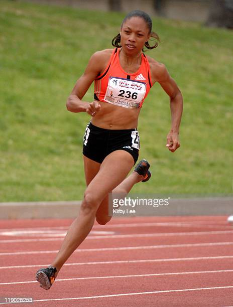 Allyson Felix won the invitational women's 400 meters in 5174 in the 49th Mt San Antonio College Relays at Hilmer Lodge Stadium in Walnut Calif on...
