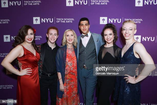 Allyson Green and NYU student performers before the NYU Tisch School of the Arts GALA 2018 at Capitale on April 16 2018 in New York City
