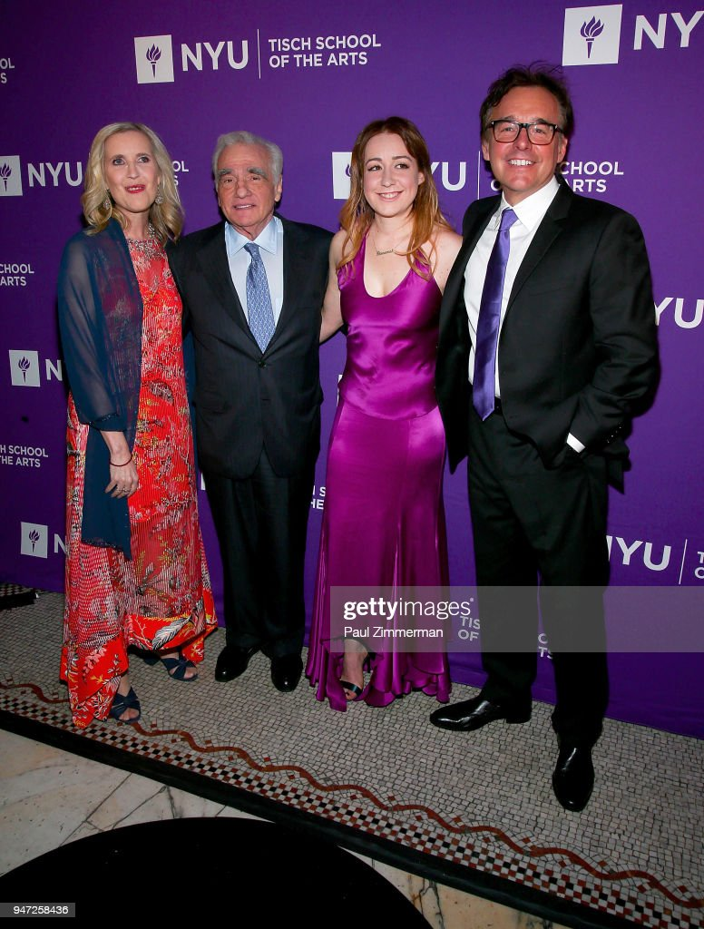 Allyson Green, Martin Scorsese, Eleanor Columbus and Chris Columbus attend the 2018 NYU Tisch Gala at Capitale on April 16, 2018 in New York City.
