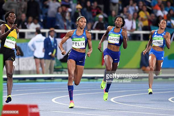 Allyson of USA on 400m during during Athletics on Olympic Games 2016 in Rio at Olympic Stadium on August 15 2016 in Rio de Janeiro Brazil