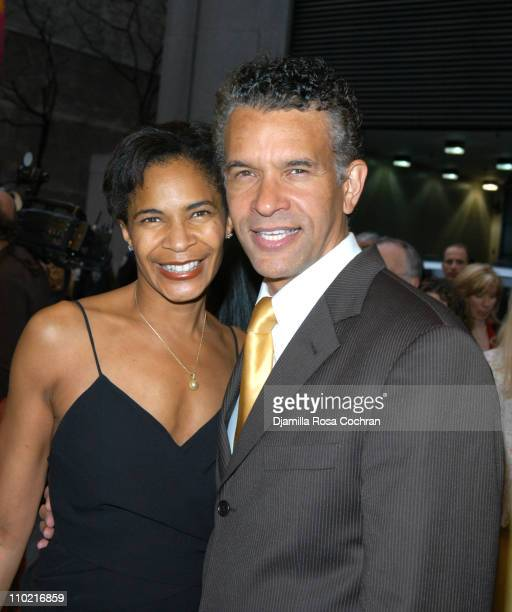 Allyson Tucker and Brian Mitchell Stokes during On Golden Pond Opening Night on Broadway Arrivals at The Cort Theatre in New York City New York...