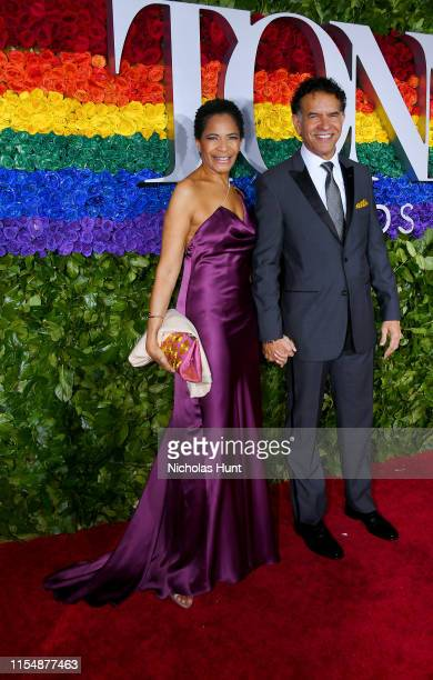 Allyson Tucker and Brian Stokes Mitchell attend the 73rd Annual Tony Awards at Radio City Music Hall on June 09 2019 in New York City