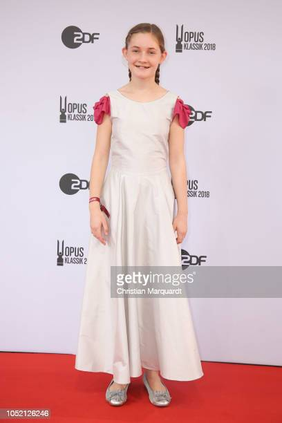 Alma Deutscher attends the OPUS Klassik Award at Konzerthaus Am Gendarmenmarkt on October 14 2018 in Berlin Germany