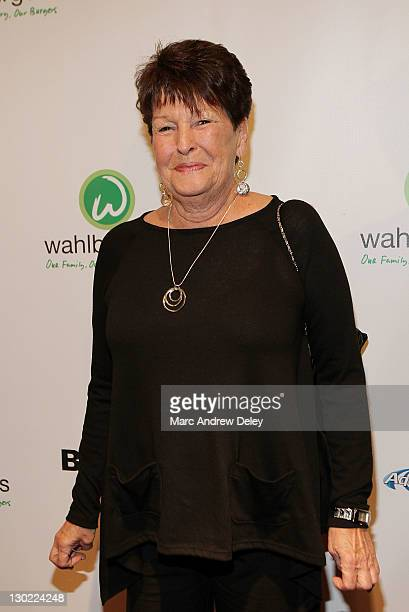 Alma Elaine Wahlberg attends the grand opening of Wahlburgers on October 24 2011 at the Hingham Shipyard in Boston Massachusetts