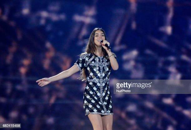 Alma from France performs with the song quotRequiemquotduring the rehearsal for the Grand Final of the Eurovision Song Contest in Kiev Ukraine 12 May...