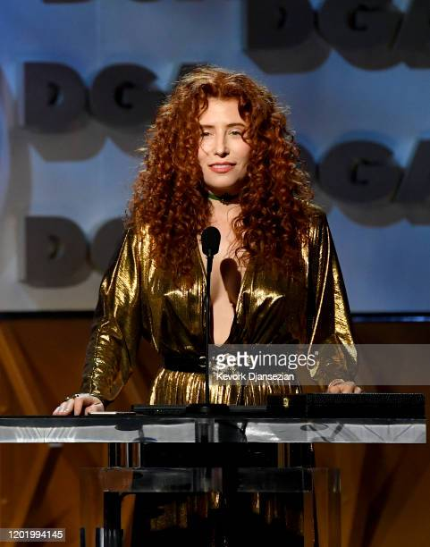 Alma Har'el accepts FirstTime Feature Film for 'Honey Boy' during the 72nd Annual Directors Guild Of America Awards at The Ritz Carlton on January 25...