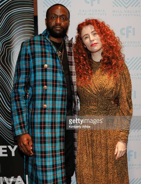 Alma Harel and Byron Bowers attend the 42nd Mill Valley Film Festival Honey Boy Premiere on October 9 2019 in Larksbur California