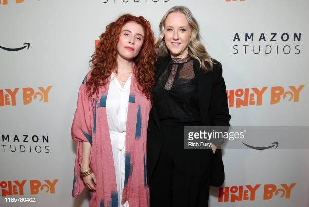 Alma Har'el and Jennifer Salke attend the premiere of Amazon Studios Honey Boy at The Dome at Arclight Hollywood on November 05 2019 in Hollywood...
