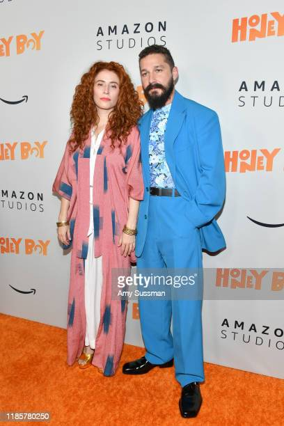 Alma Har'el and Shia LaBeouf attend the premiere of Amazon Studios Honey Boy at The Dome at Arclight Hollywood on November 05 2019 in Hollywood...