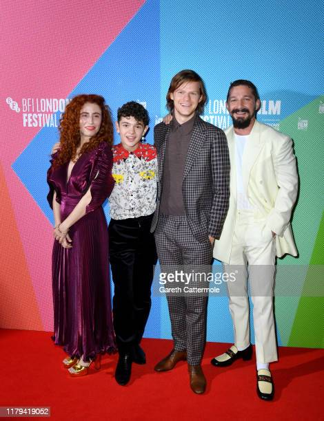 Alma Har'el Noah Jupe Lucas Hedges and Shia LaBeouf attend the Honey Boy European Premiere during the 63rd BFI London Film Festival at the Vue West...
