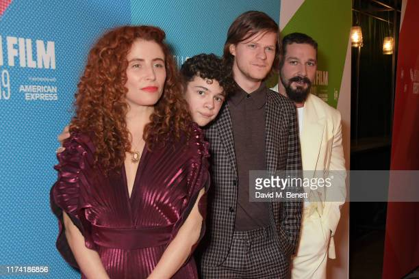 Alma Har'el Noah Jupe Lucas Hedges and Shia LaBeouf attend the European Premiere of Honey Boy during the 63rd BFI London Film Festival at Vue West...