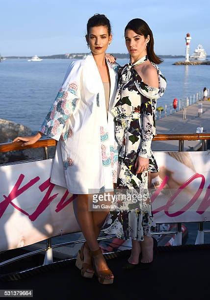 Alma Jodorowsky and Gala Gordon attend the 'Kids In Love' photocall during the 69th annual Cannes Film Festival at Palais des Festivals on May 14...