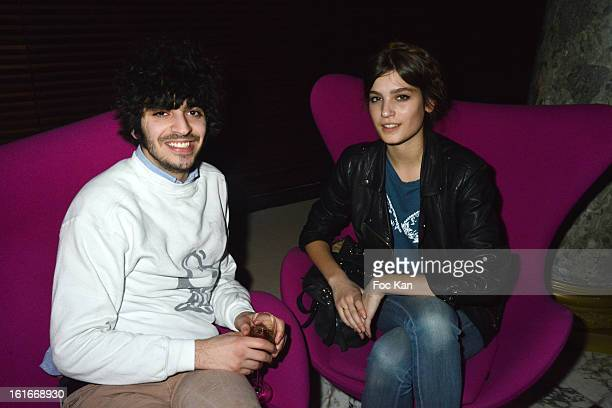 Alma Jodorowsky and Thomas Nero attend 'Magnum Ice Creams' Party for Valentine's day at Pavillon Cambon Capucines on February 13 2013 in Paris France