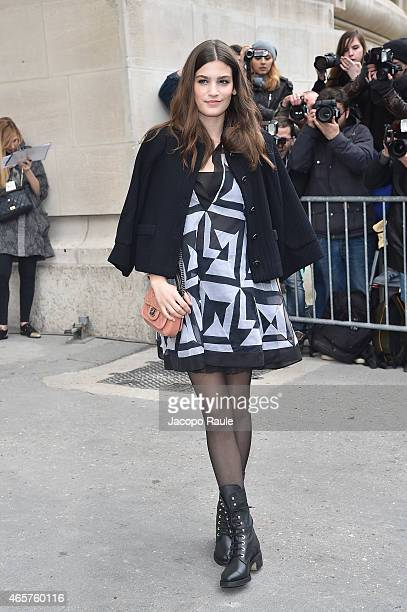 Alma Jodorowsky arrives at Chanel Fashion Show during Paris Fashion Week Fall Winter 2015/2016 on March 10 2015 in Paris France
