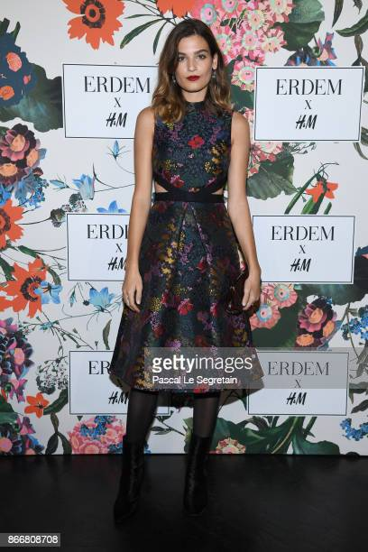 Alma Jodorowsky attends ERDEM X HM Paris Collection Launch at Hotel du Duc on October 26 2017 in Paris France