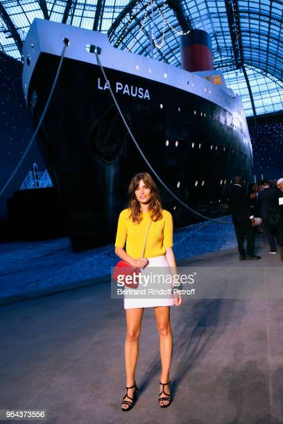 Alma Jodorowsky attends the Chanel Cruise 2018/2019 Collection Photocall at Le Grand Palais on May 3 2018 in Paris France