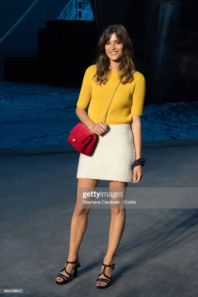 Alma Jodorowsky attends the Chanel Cruise 2018/2019 Collection at Le Grand Palais on May 3, 2018 in Paris, France.