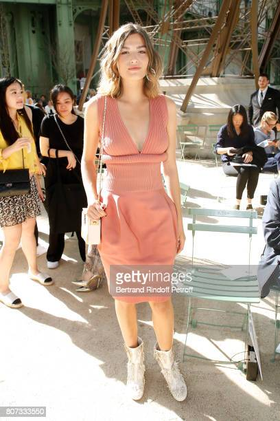 Alma Jodorowsky attends the Chanel Haute Couture Fall/Winter 20172018 show as part of Haute Couture Paris Fashion Week on July 4 2017 in Paris France