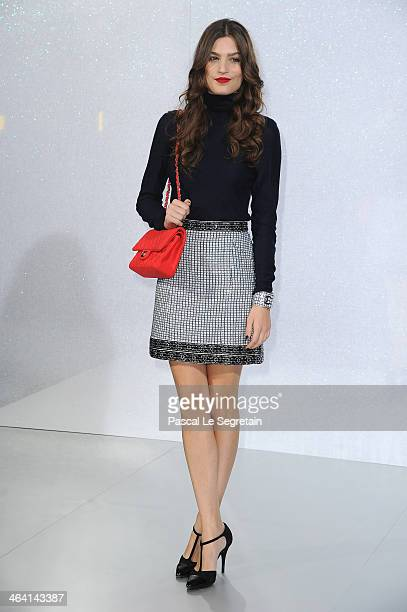 Alma Jodorowsky attends the Chanel show as part of Paris Fashion Week Haute Couture Spring/Summer 2014 on January 21 2014 in Paris France