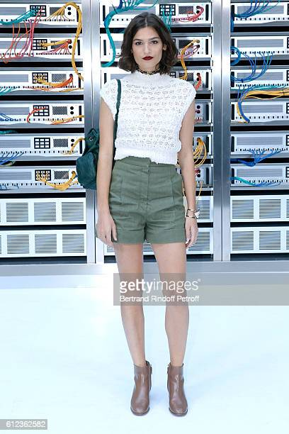 Alma Jodorowsky attends the Chanel show as part of the Paris Fashion Week Womenswear Spring/Summer 2017 on October 4 2016 in Paris France
