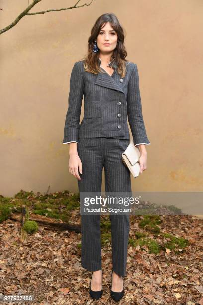 Alma Jodorowsky attends the Chanel show as part of the Paris Fashion Week Womenswear Fall/Winter 2018/2019 at Le Grand Palais on March 6 2018 in...